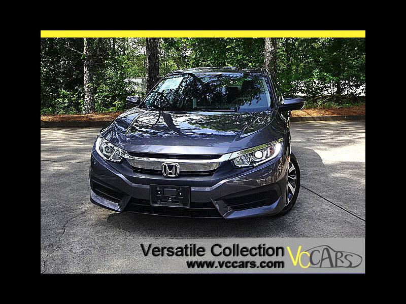 2016 Honda Civic Sedan EX CVT Leather Seats Blind Spot Camera Sunroof XM