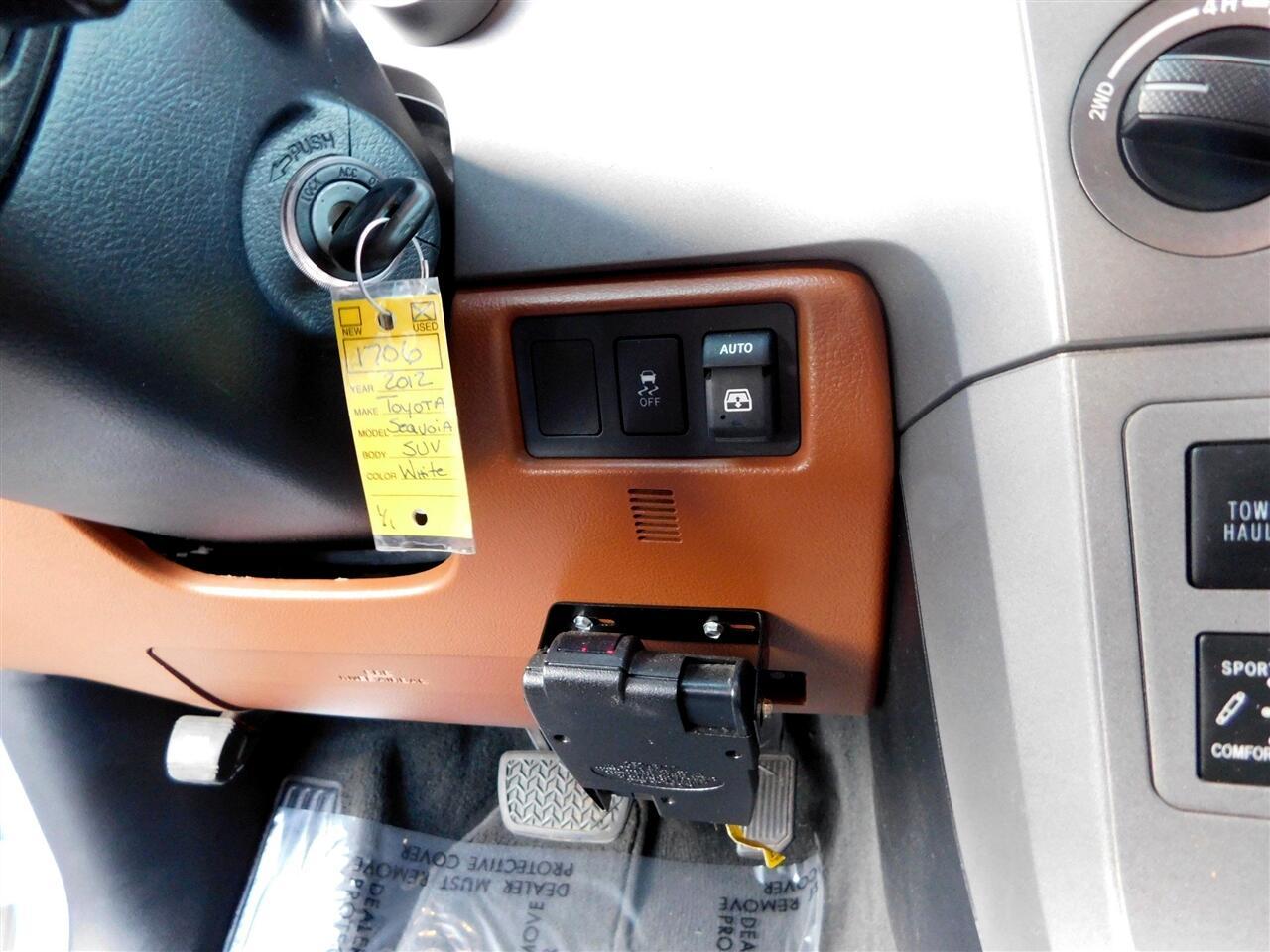 2012 Toyota Sequoia 4WD 5.7L FFV Platinum (Natl)
