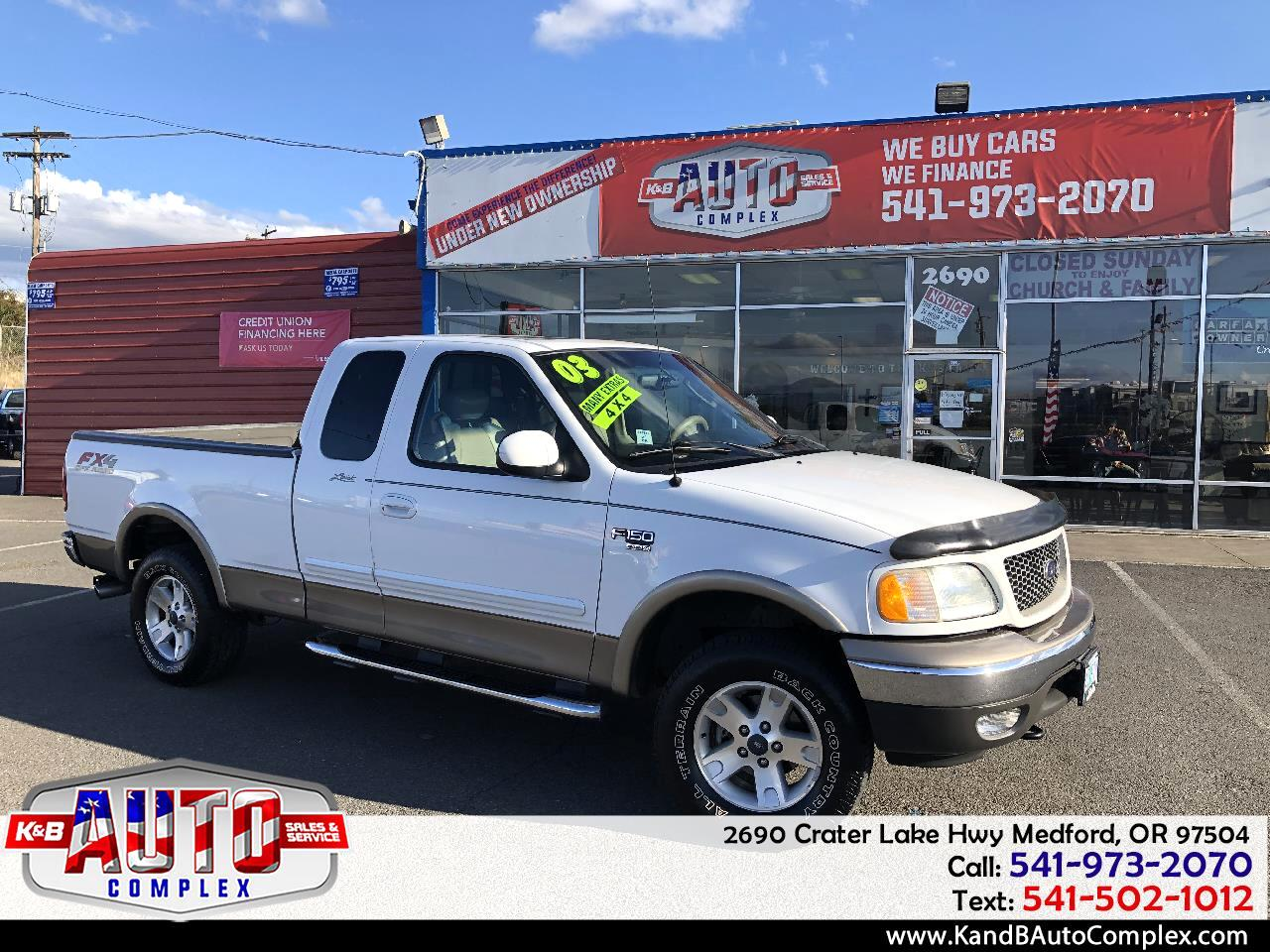 """2003 Ford F-150 Supercab 139"""" Lariat 4WD"""