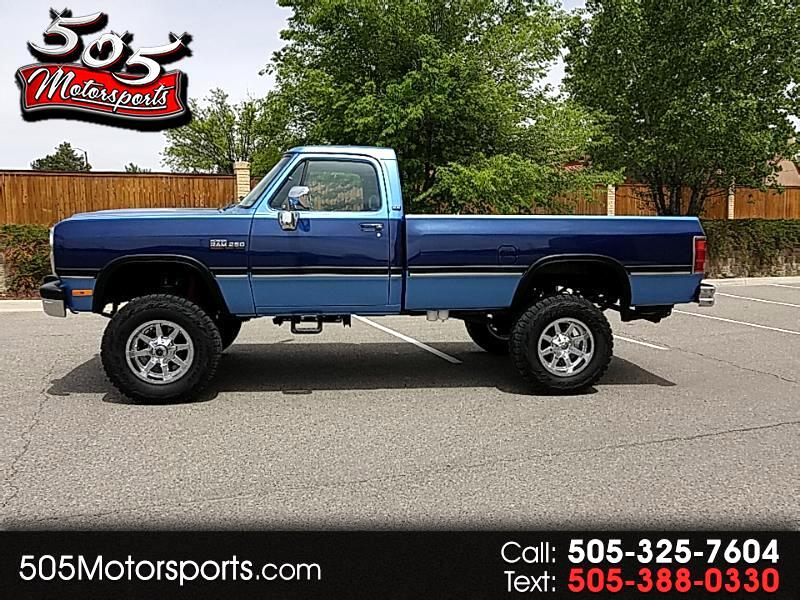 1991 Dodge RAM 250 Reg. Cab 8-ft. Bed 4WD