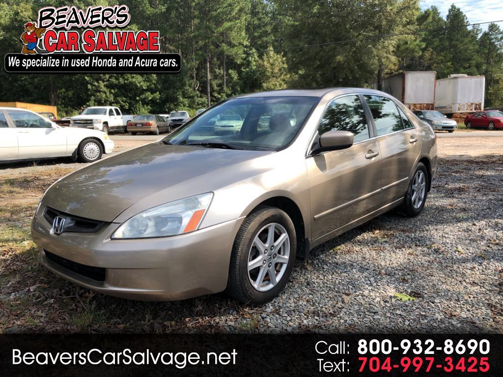 2003 Honda Accord Sdn 4dr Sdn EX Auto V6 W/Leather