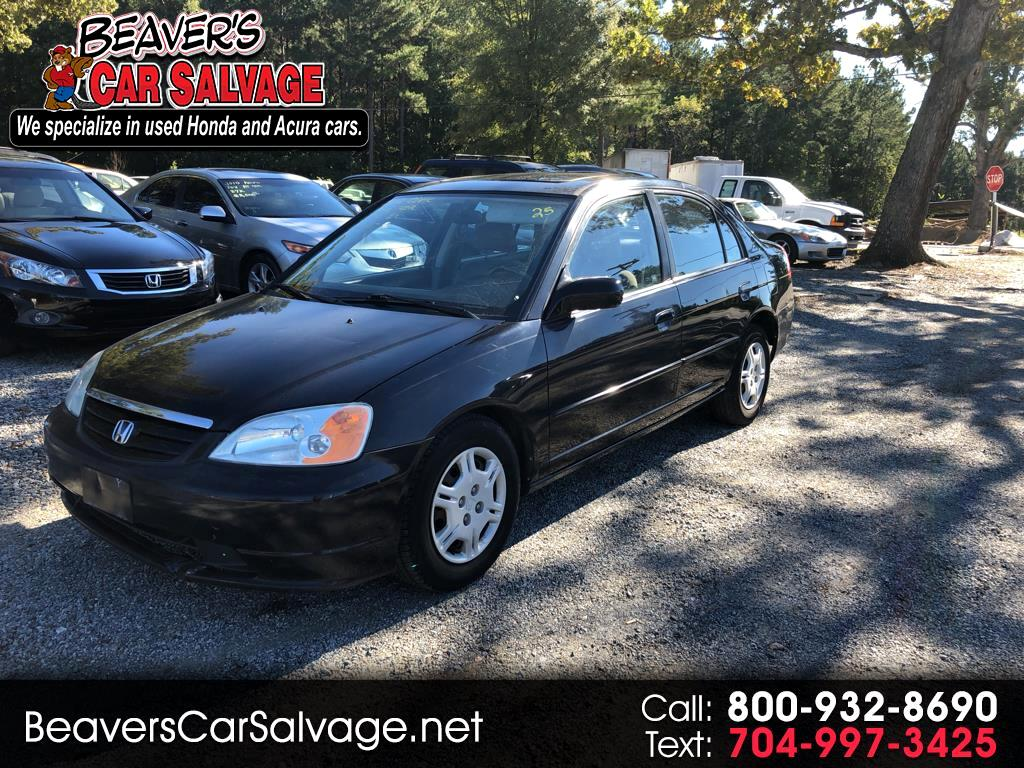 2002 Honda Civic 4dr Sdn EX Manual w/Side Airbags