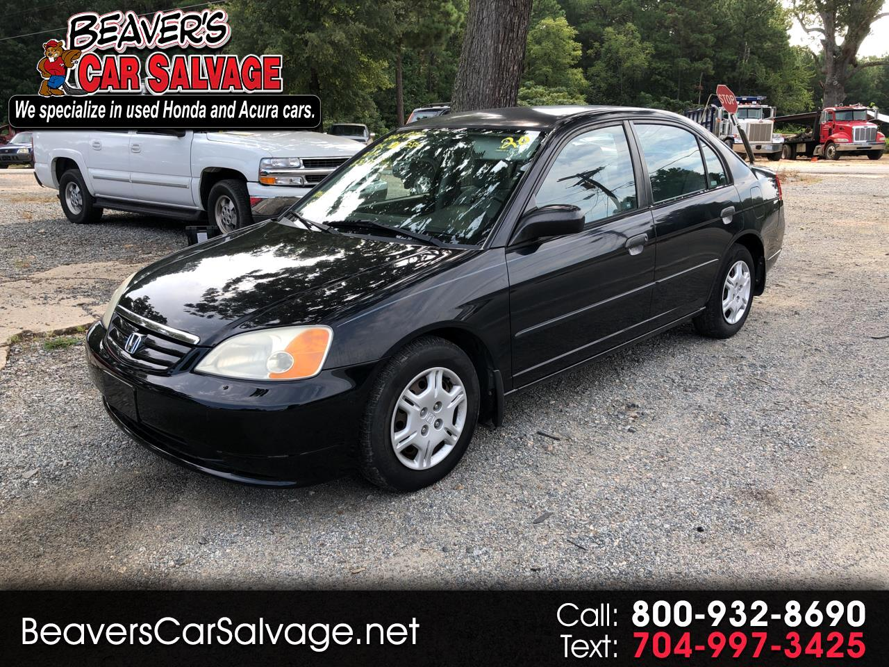 2001 Honda Civic 4dr Sdn DX Manual