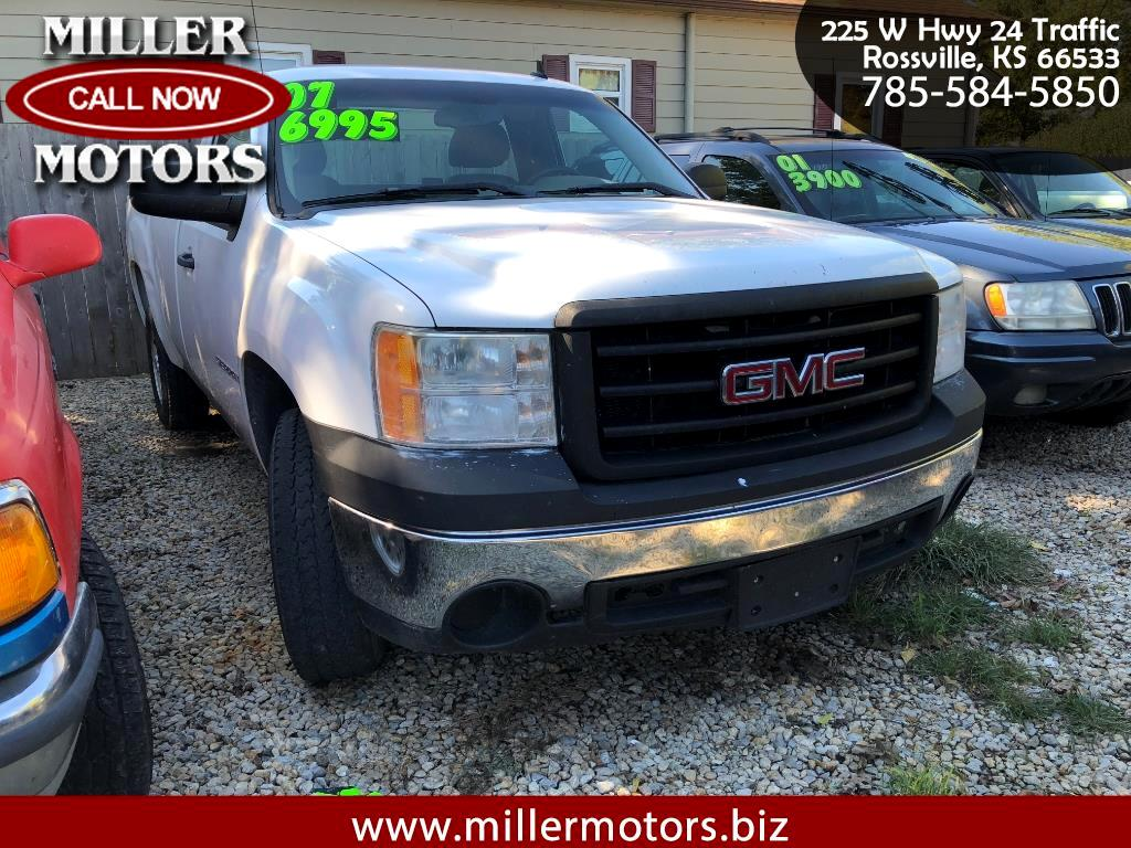 2007 GMC Sierra 1500 SLE  Reg. Cab Long Bed 2WD