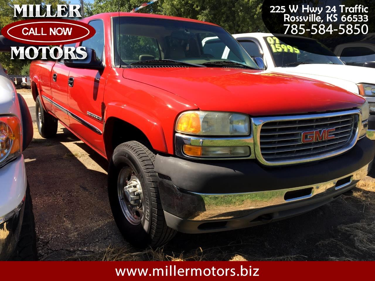 2001 GMC Sierra 2500HD SLE Crew Cab Short Bed 4WD
