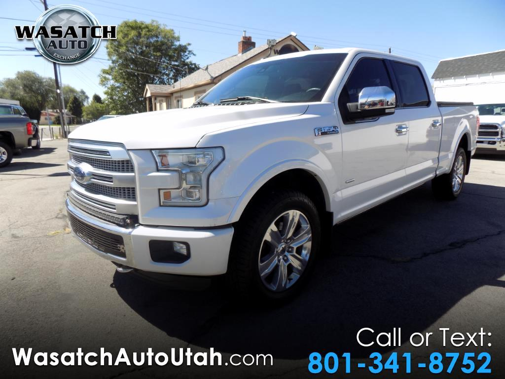 "2016 Ford F-150 4WD SuperCrew 157"" Platinum"