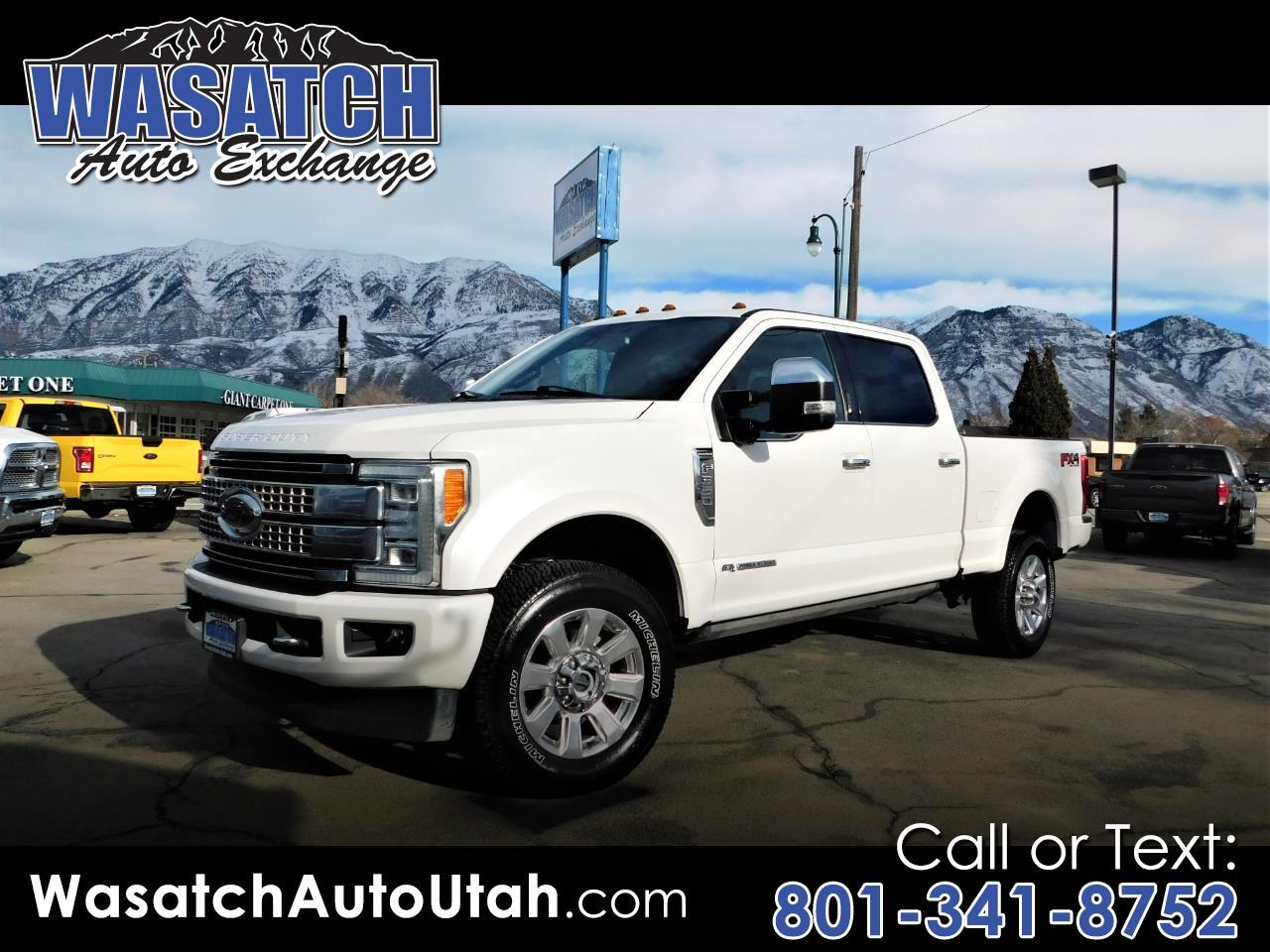 Ford Super Duty F-350 SRW Platinum 4WD Crew Cab 6.75' Box 2017