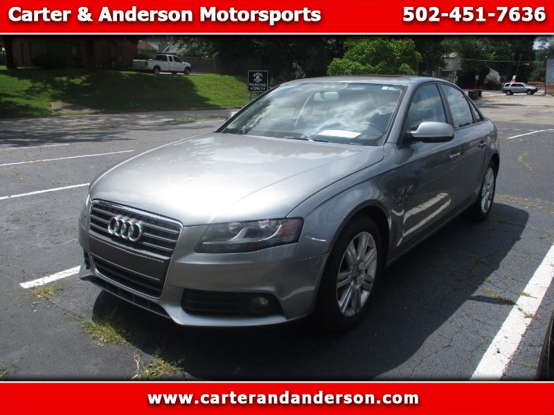 2010 Audi A4 2.0 T Sedan FrontTrak Multitronic