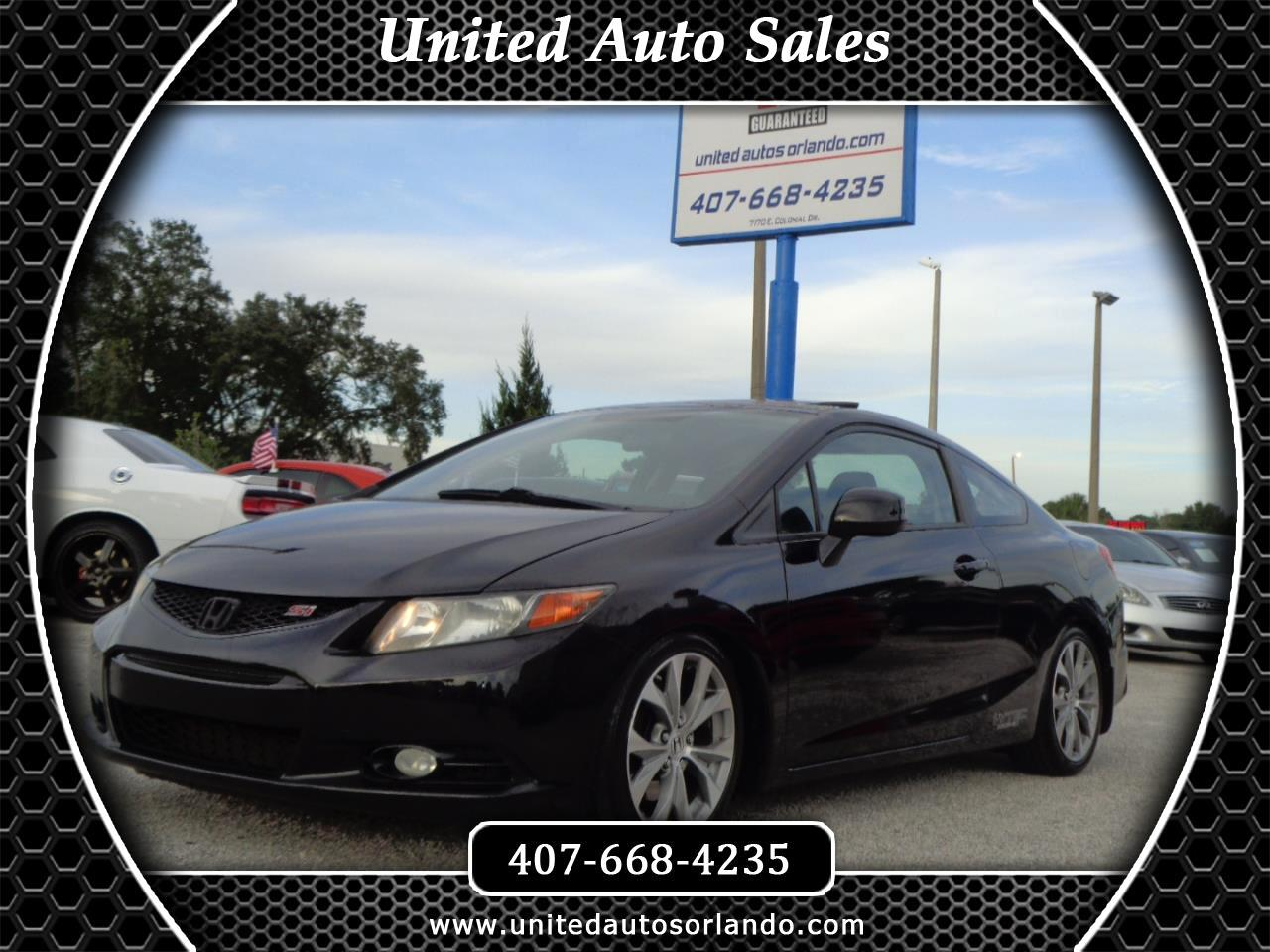2012 Honda Civic Cpe 2dr Man Si