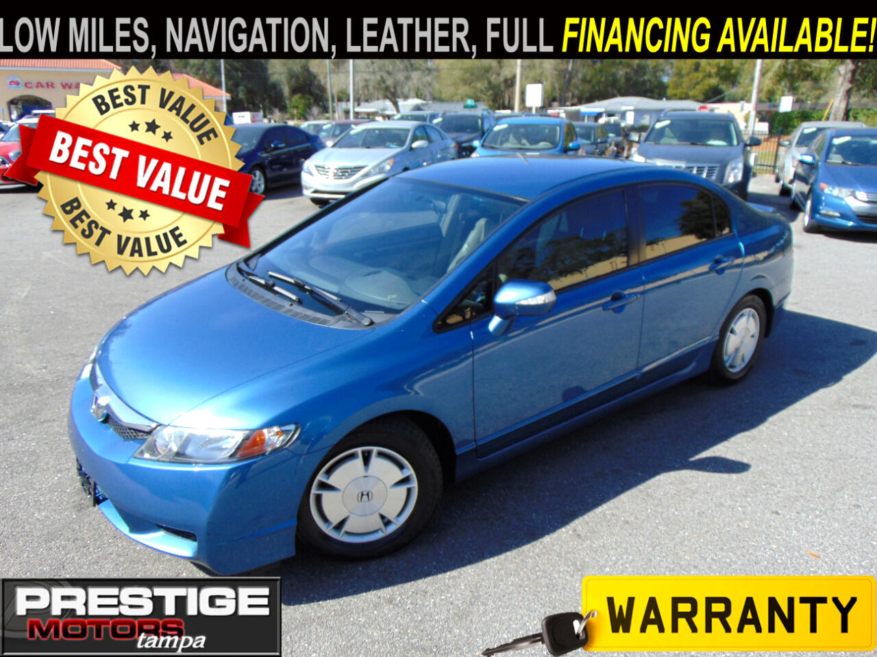 Honda Civic Hybrid CVT AT-PZEV with Leather and Navigation 2010