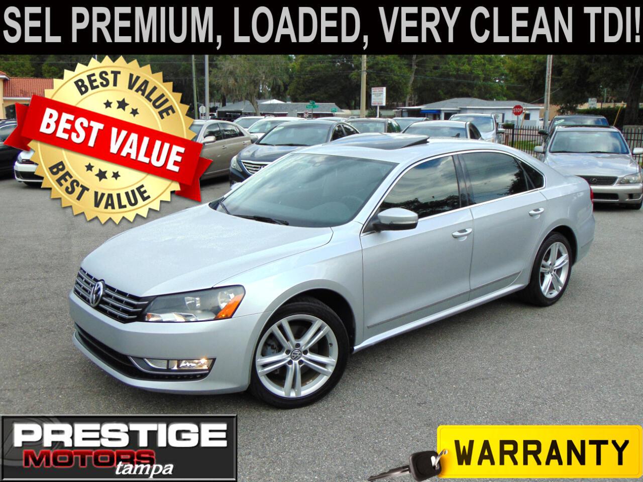 Volkswagen Passat 2.0L TDI SEL Premium 2014