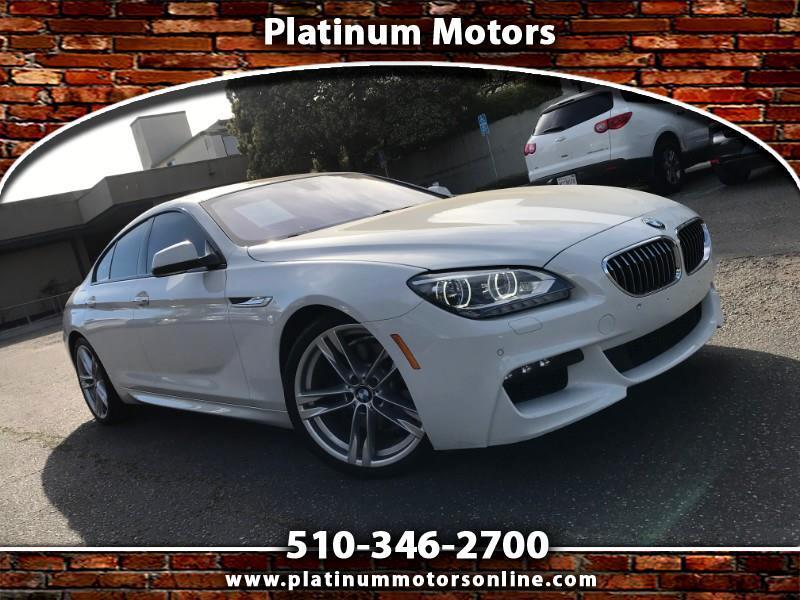 2015 BMW 6-Series Gran Coupe 640i ~ L@@K ~ M Sport PKG ~ White/BLK ~ Like New ~