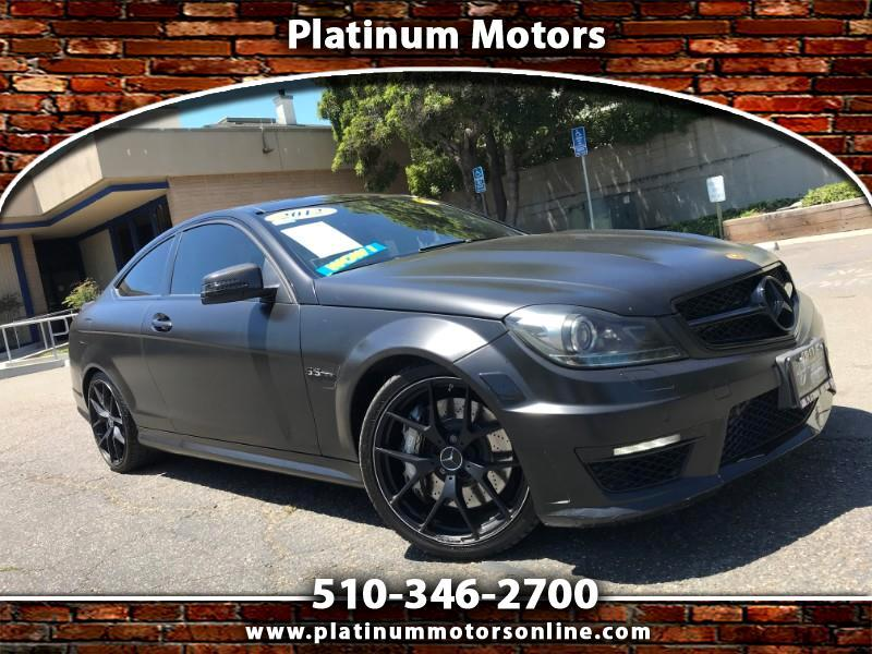 2012 Mercedes-Benz C-Class C63AMG Coupe ~ 51K MIles ~ Matt Wrap On Red ~ We F