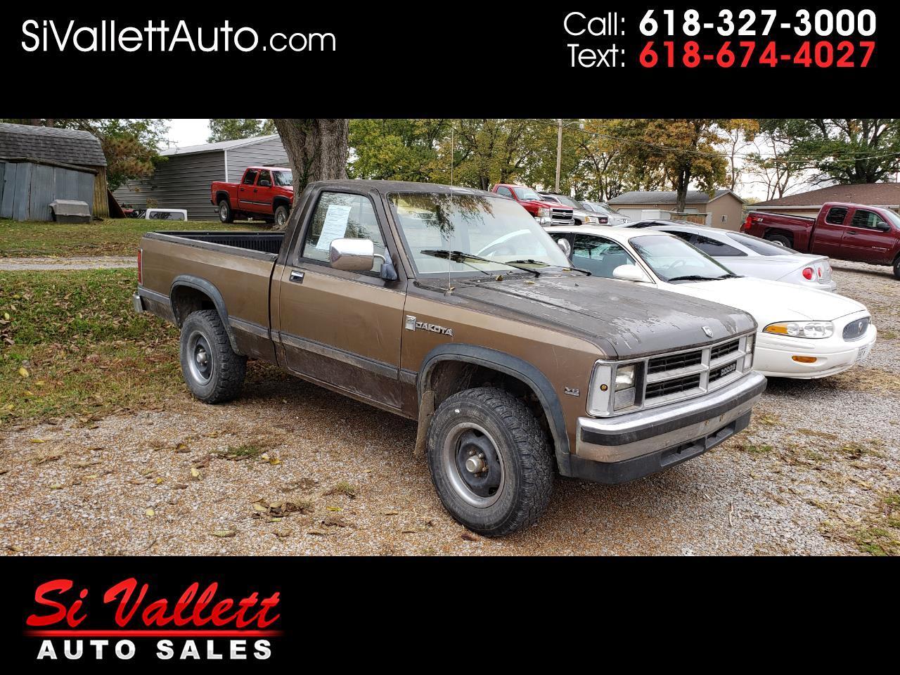 """Dodge Dakota Sweptline 124"""" WB 4WD 1989"""