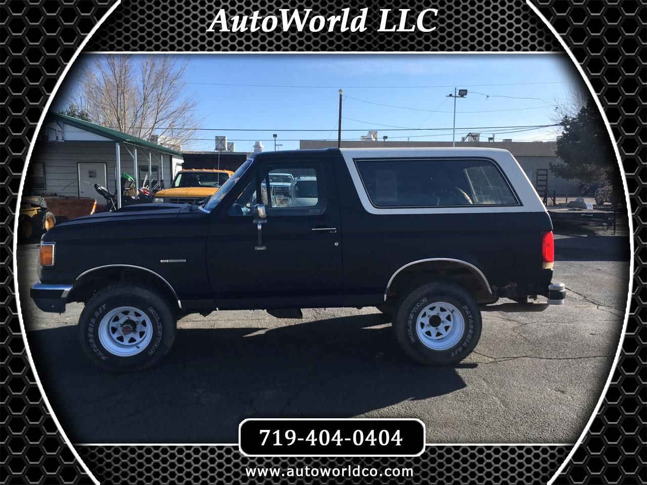 Ford Bronco 4WD 2dr Wagon Custom 1989