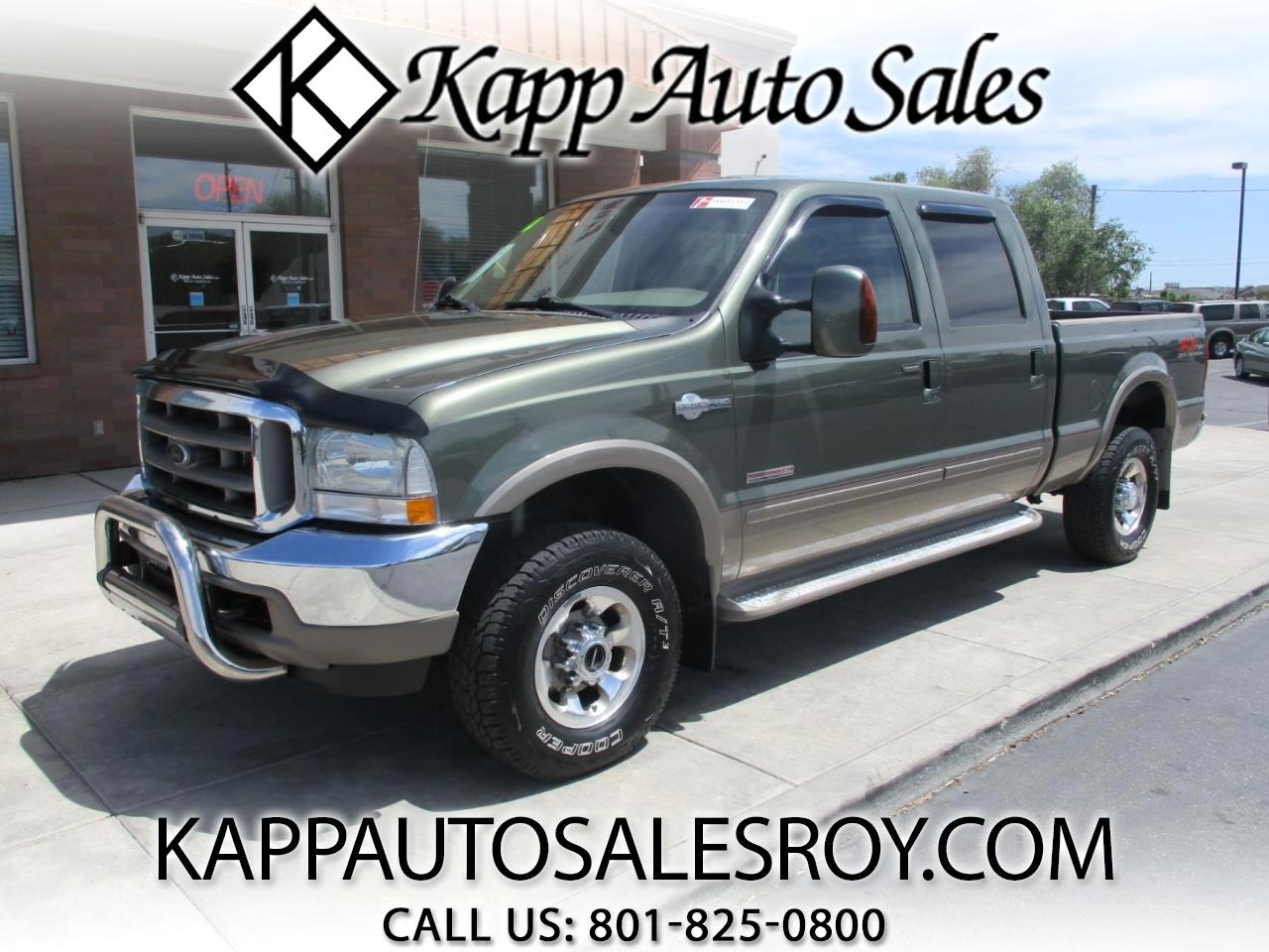 Kapp Auto Sales Roy >> Used 2004 Ford F-250 SD King Ranch Crew Cab 4WD for Sale ...
