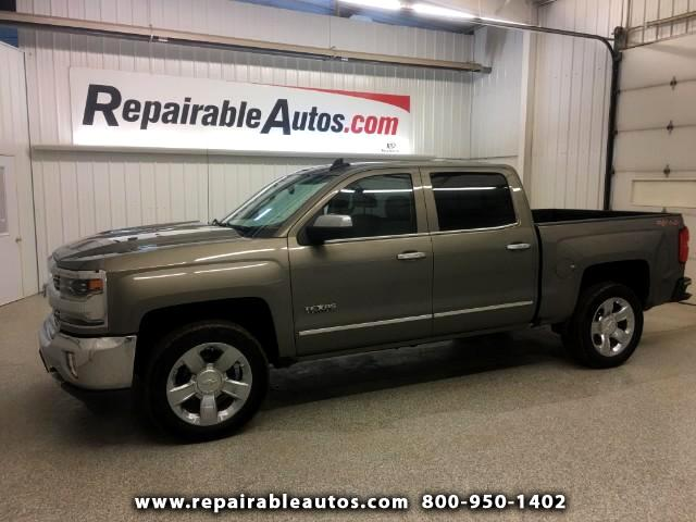 2017 Chevrolet Silverado 1500 LTZ 4WD Repairable Water NON REPAIRABLE TITLE