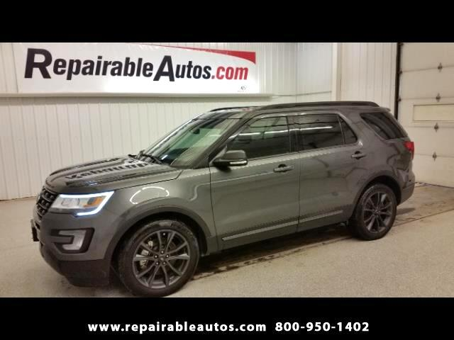 2017 Ford Explorer XLT FWD Repairable Water TEXAS NONREPAIRABLE TITLE