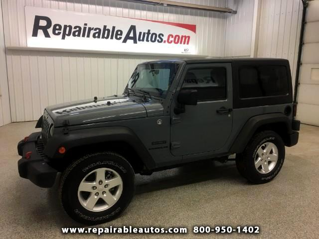 2015 Jeep Wrangler 4WD Water Dmg TX NON REPAIRABLE TITLE