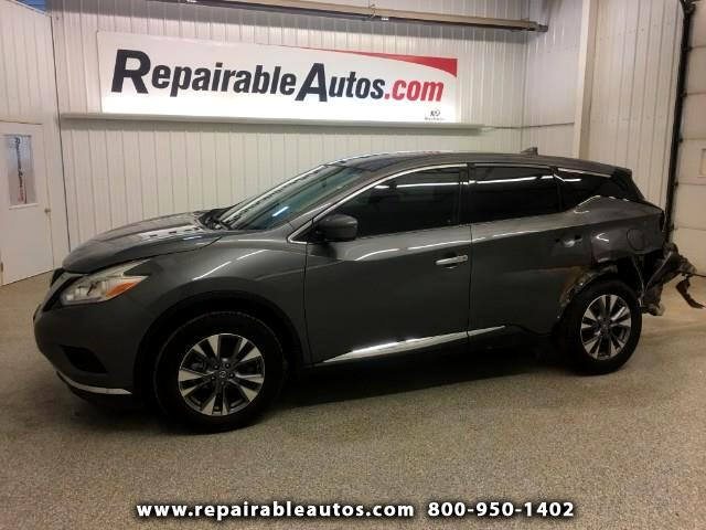 2017 Nissan Murano FWD Repairable Rear Damage