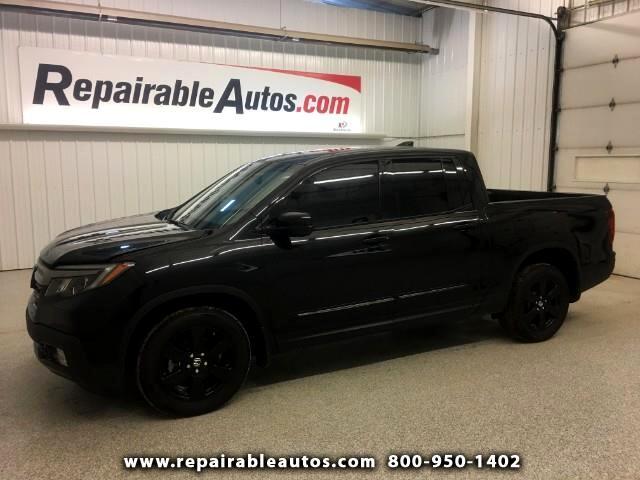 2017 Honda Ridgeline BLACK 4WD Repairable Theft Damage