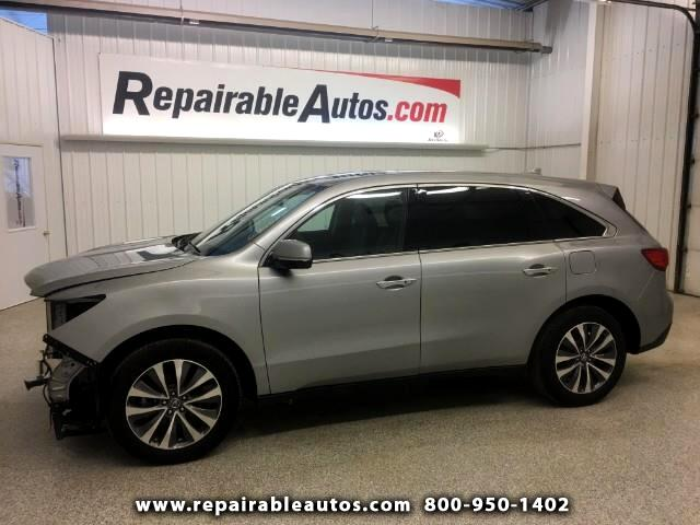 2016 Acura MDX AWD Repairable Front Damage