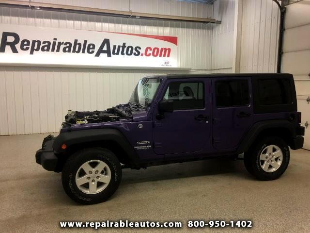 2017 Jeep Wrangler Unlimited Sport 4WD Repairable Front Damage