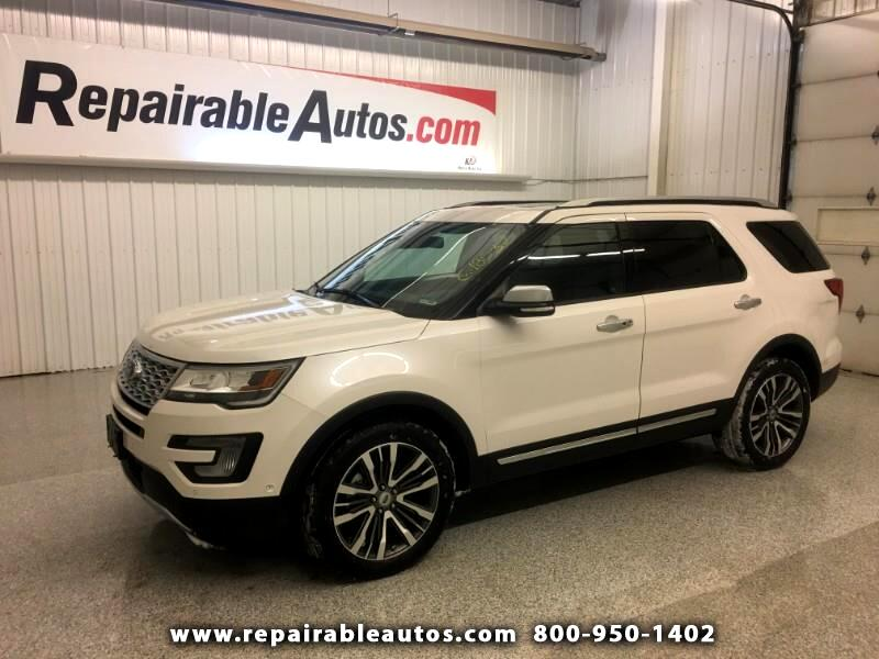 2017 Ford Explorer Plantinum AWD Repairable Theft Recovery