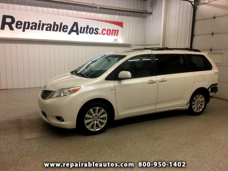 2017 Toyota Sienna AWD XLE Repairable Rear Damage