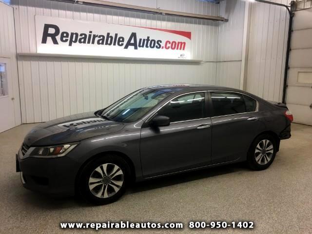 2014 Honda Accord Repairable Rear Damage