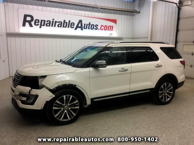 2016 Ford Explorer Platinum AWD Repairable Front Damge