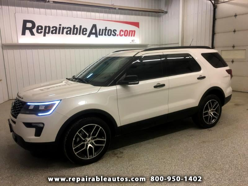 2018 Ford Explorer Sport  AWD  Repaired Rear Damage