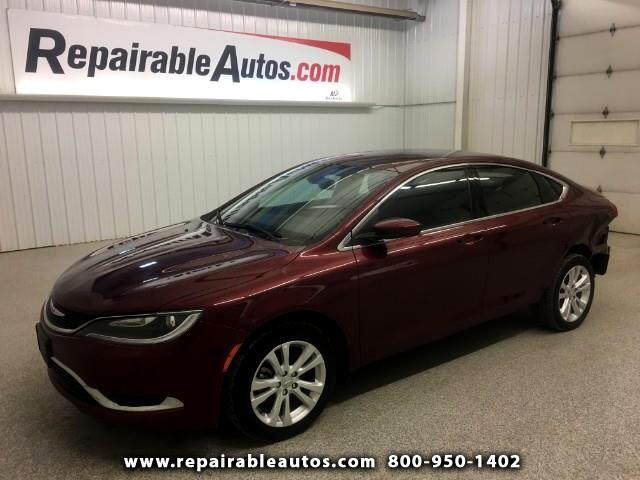 2016 Chrysler 200 Repairable Rear Damage