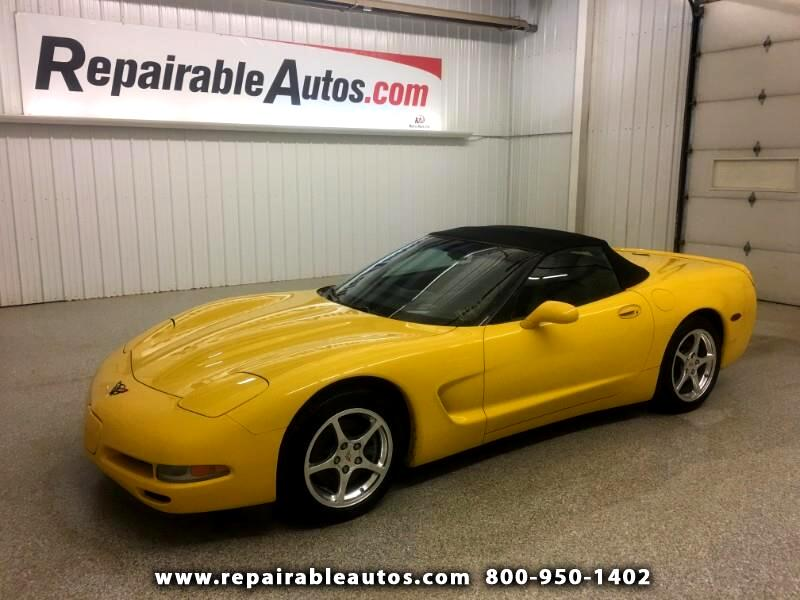 2000 Chevrolet Corvette Convertible Repairable Water Damage