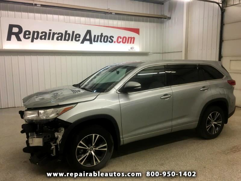 2017 Toyota Highlander AWD Repairable Front Damage
