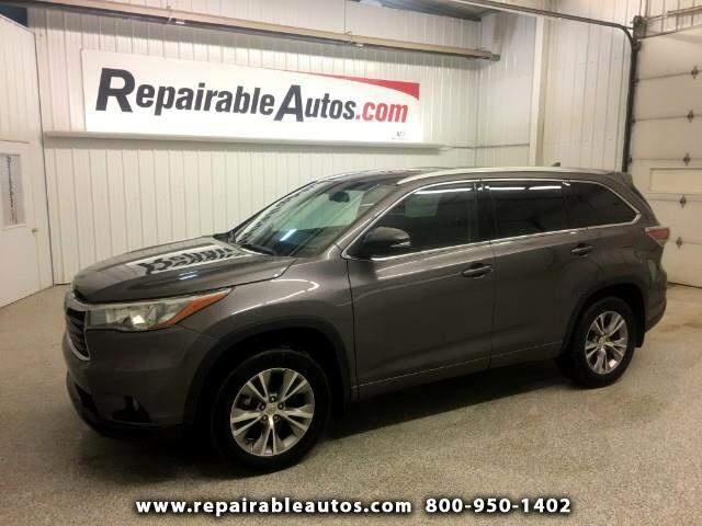2015 Toyota Highlander XLE AWD Repairable Theft Damage