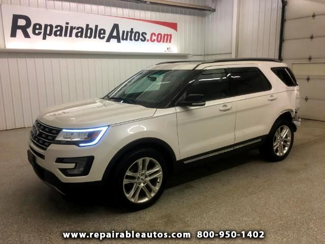 2017 Ford Explorer XLT 4WD Repairable Rear Damage