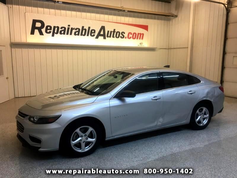 2016 Chevrolet Malibu LS Repairable Rear Damage