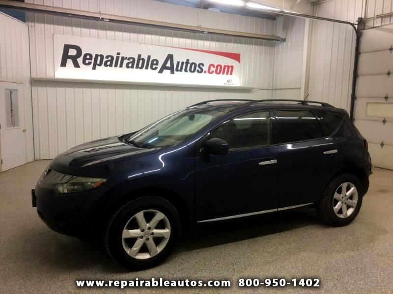 2009 Nissan Murano SL AWD Repairable Rear Damage