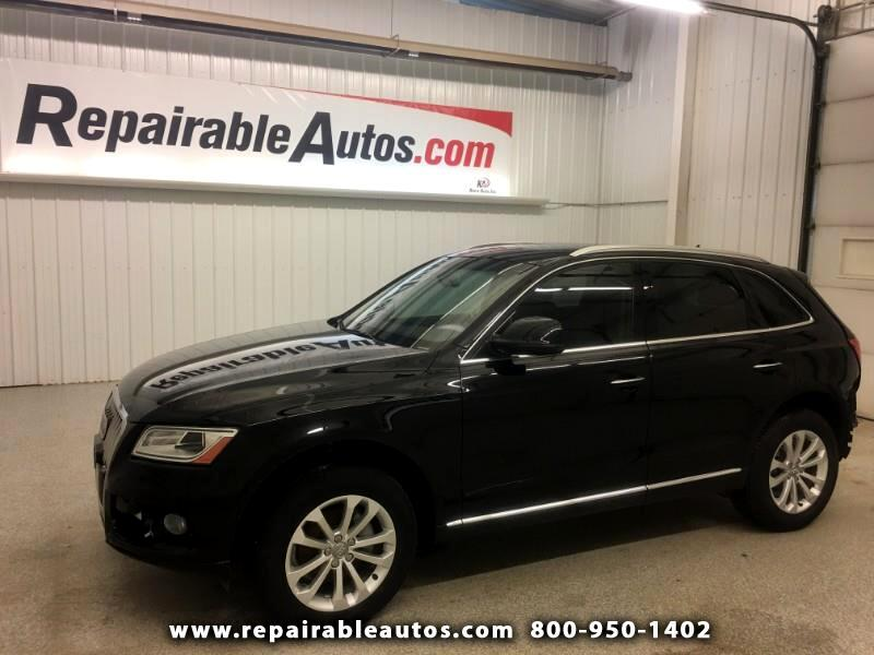 2017 Audi Q5 2.0T Quattro Repairable Rear Damage