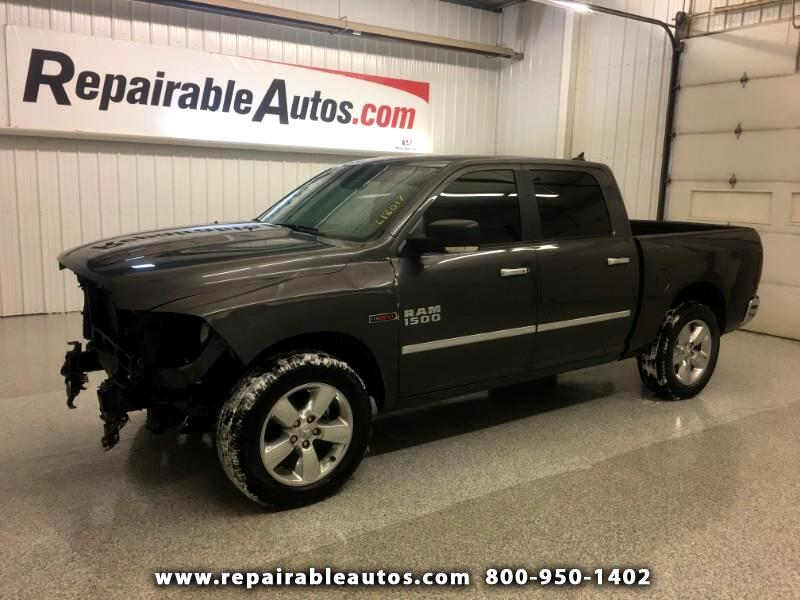 2016 RAM 1500 Bighorn 4WD Repairable Front Damage