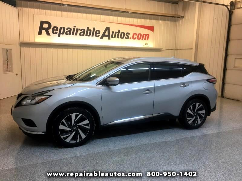 2018 Nissan Murano Platinum AWD Repairable Smoke Damage