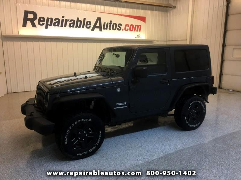 2017 Jeep Wrangler Sport 4WD Repairable Rear Damage