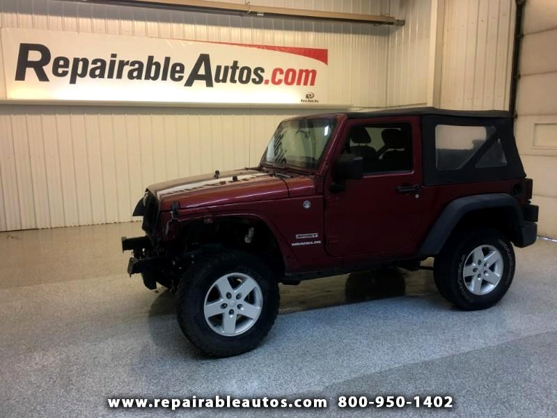 2012 Jeep Wrangler Sport 4WD Repairable Front Damage
