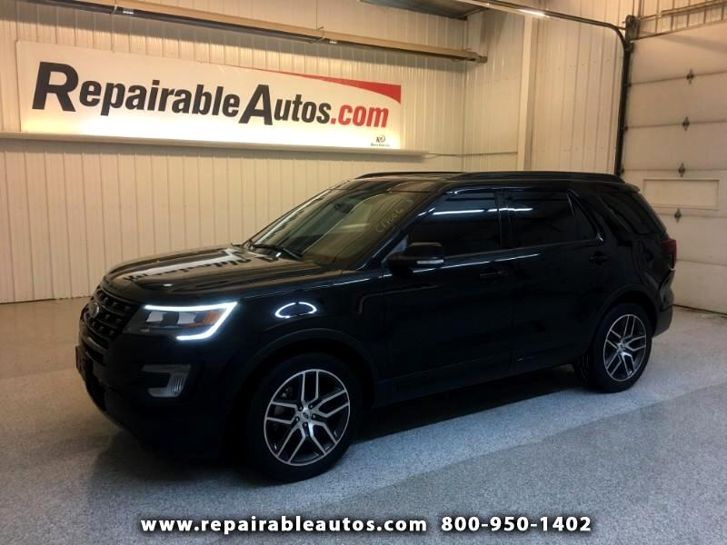 2017 Ford Explorer Sport AWD Repairable Rear Damage