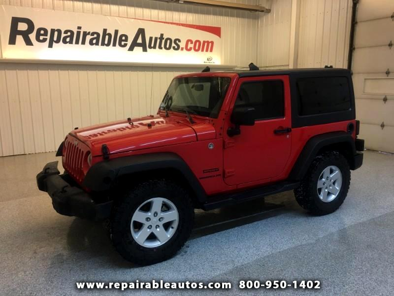 2015 Jeep Wrangler Sport 4WD Repairable Front Damage