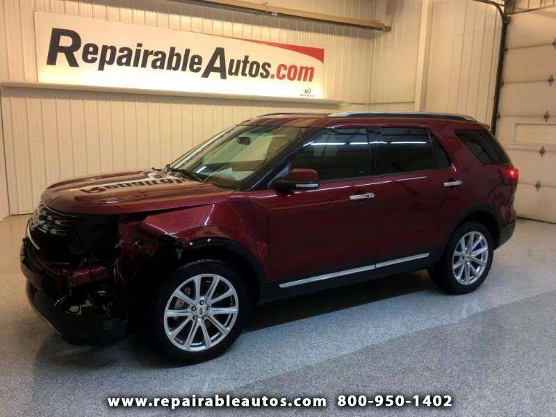 2017 Ford Explorer Limited 4WD Repairable Front Damage