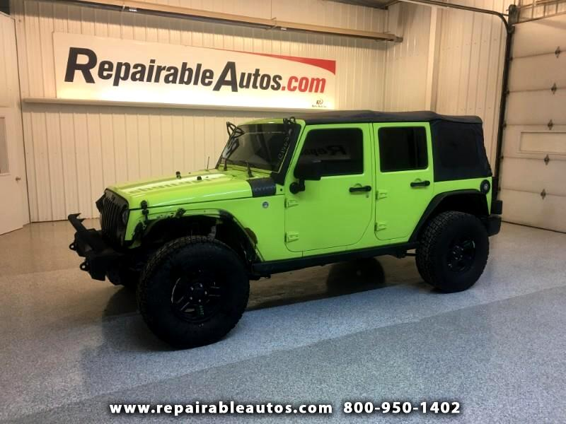2016 Jeep Wrangler Unlimited Sport 4WD Repairable Front Damage