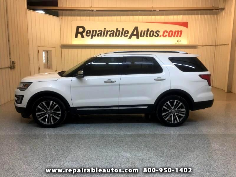 2016 Ford Explorer Platinum AWD Repairable Rear Damage