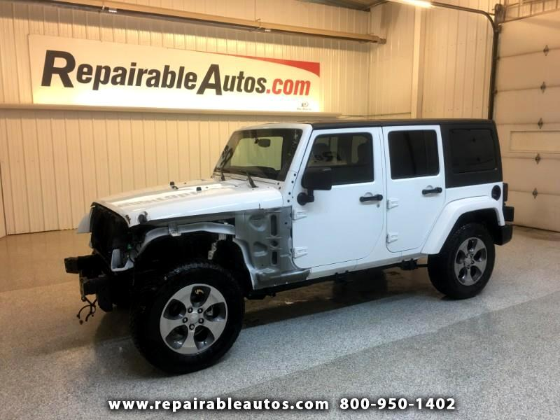 2018 Jeep Wrangler JK Unlimited Sahara 4WD Repairable Front Damage